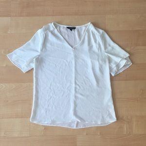 Banana republic blouse- white- xs